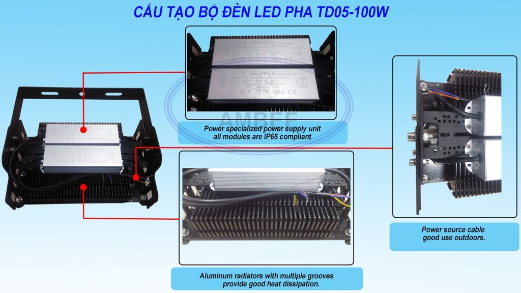 TD05 - LED Flood Light 50W sang trọng