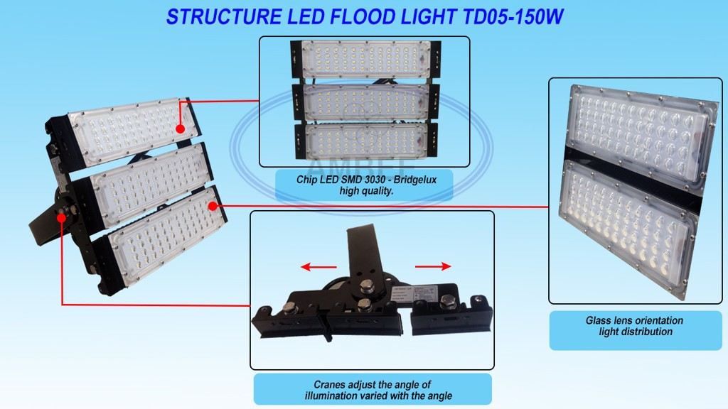 TD05 - LED Flood Light 150W đẹp