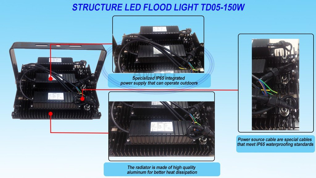 TD05 - LED Flood Light 150W sang trọng