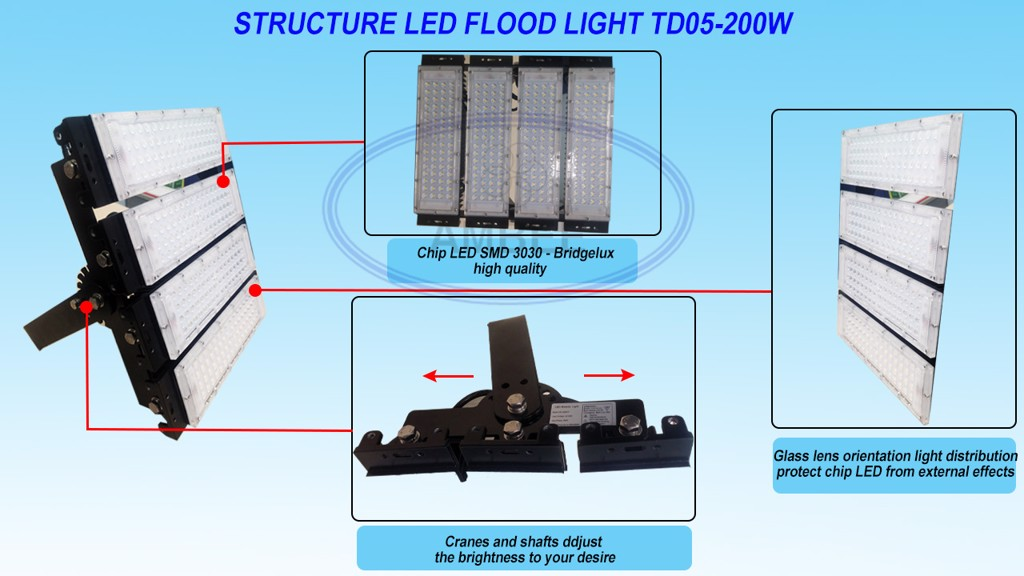 TD05 - LED Flood Light 200W tinh tế