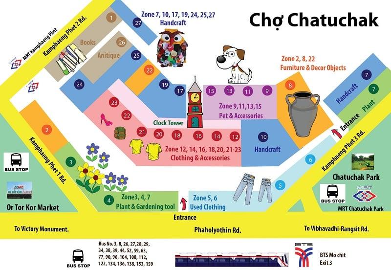 bản đồ chợ chatuchak