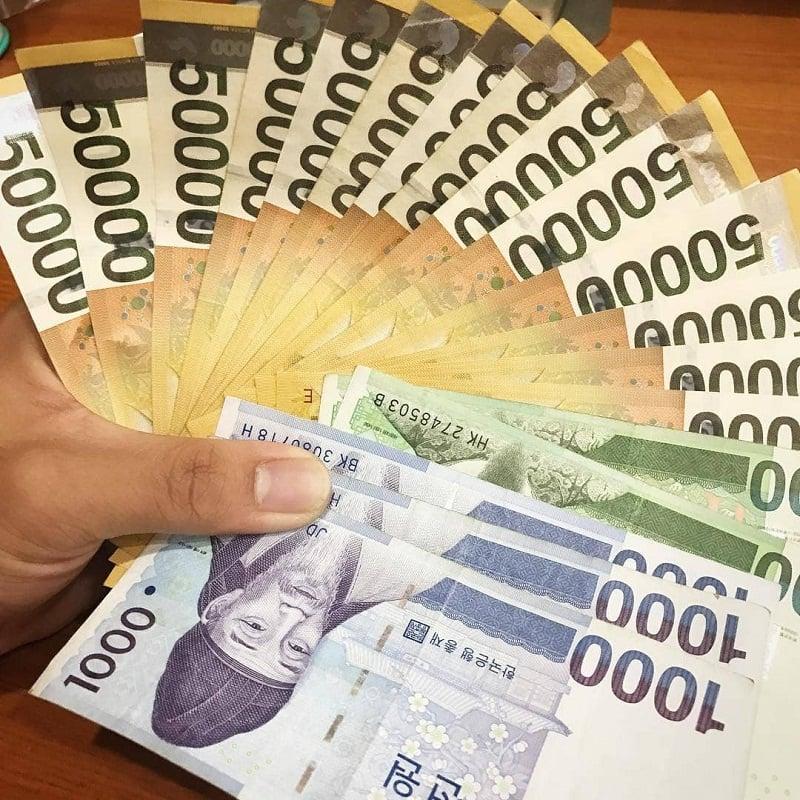 chuyển đổi tiền hàn quốc