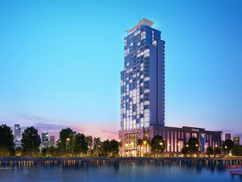 Khách sạn Vinpearl Cần Thơ về đêm nằm bên dòng sông Hậu