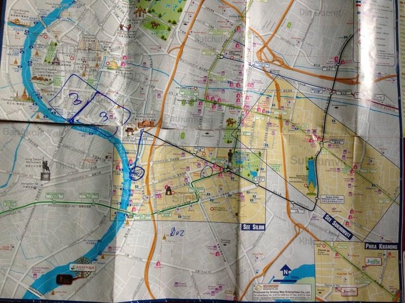 thái lan bản đồ