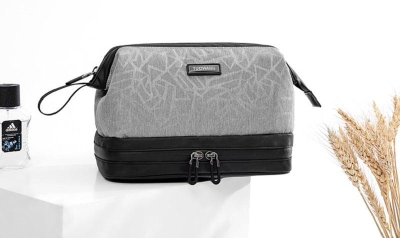 Túi đựng đồ cá nhân cho nam 2 ngăn Tuowang 191282 màu xám