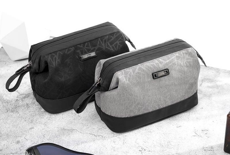 Túi đựng đồ cá nhân cho nam 2 ngăn Tuowang 191282 đen và xám