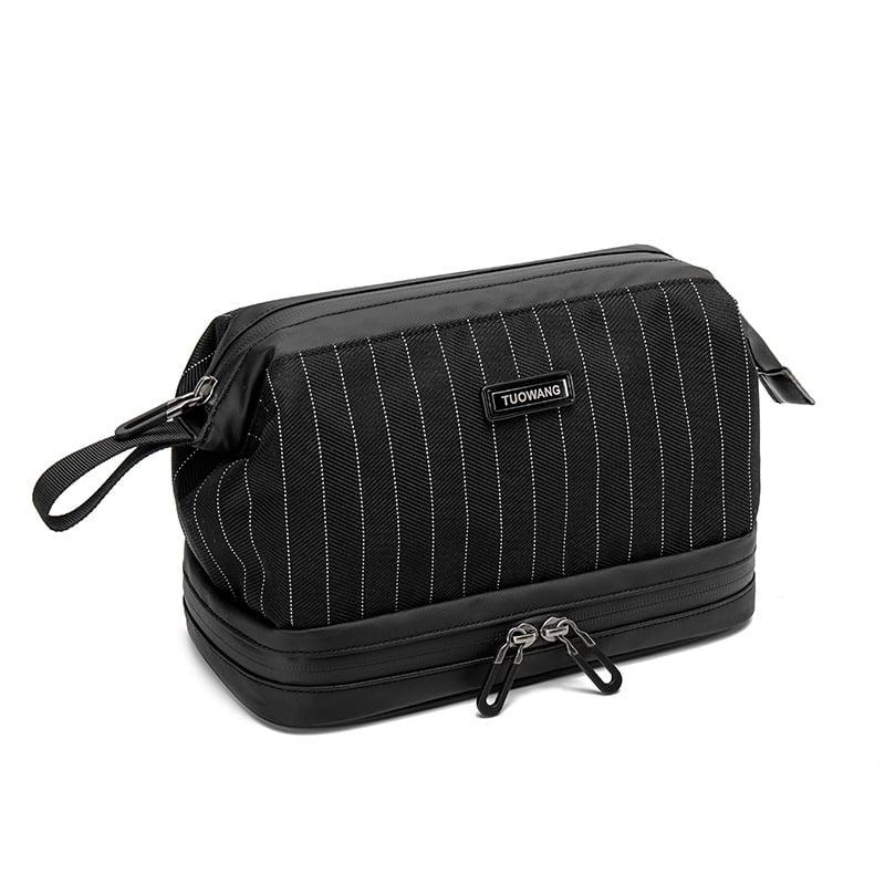 Túi đựng đồ cá nhân cho nam 2 ngăn Tuowang 191282 đen sọc