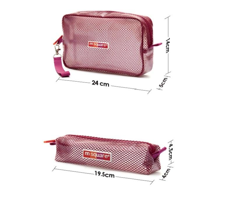 Kích thước set 2 túi đựng đồ dùng Msquare