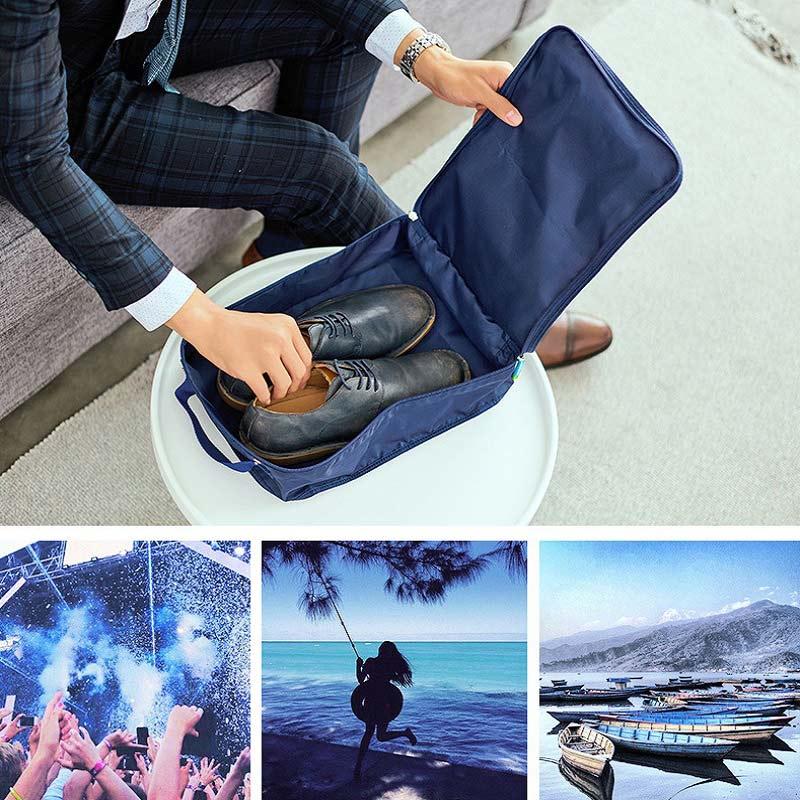 Sử dụng túi đựng giày 2 ngăn Msquare Formal khi đi du lịch, đi biển