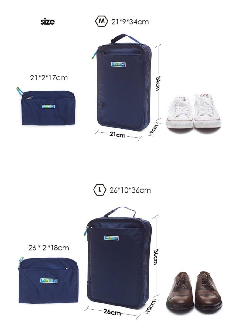Hai kích thước của túi đựng giày 2 ngăn Msquare Formal