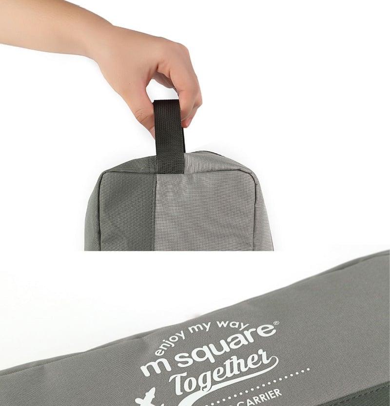Thiết kế quai cầm của Túi đựng giày 3 ngăn Msquare Convenient