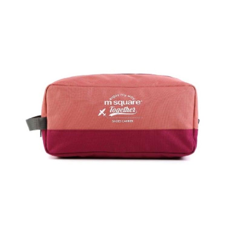 Túi đựng giày 3 ngăn Msquare Convenient màu hồng