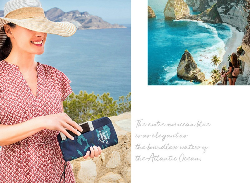 Sử dụng bóp đựng passport Msquare Holder S L khi đi du lịch