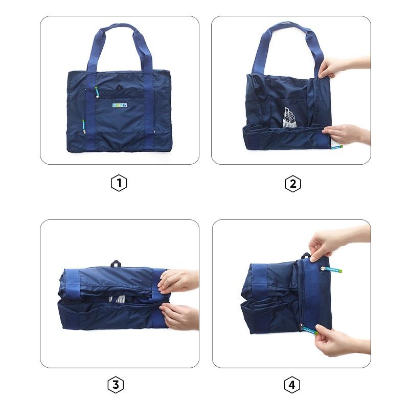 Hướng dẫn gấp gọn túi đựng quần áo cỡ lớn Msquare Foldable