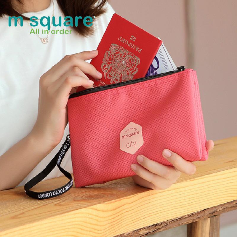 Túi nhỏ đựng mỹ phẩm có móc treo Msquare 192360 màu hồng