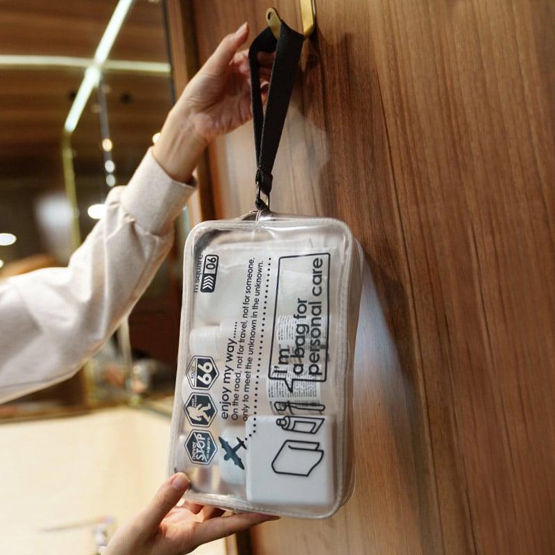 Móc treo tiện dụng của túi nhựa trong suốt đựng mỹ phẩm Msquare Together
