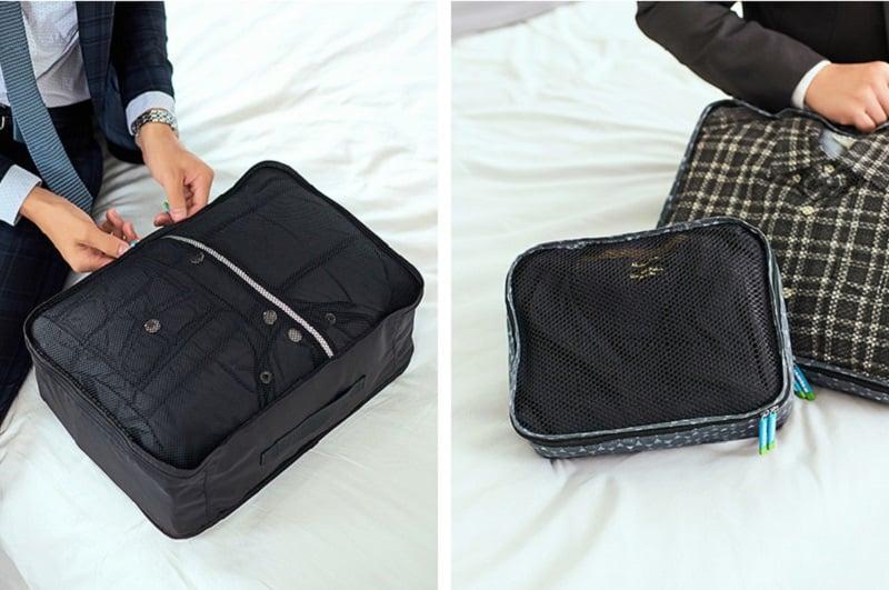 Sử dụng túi vải đựng quần áo Msquare Business khi đi du lịch, công tác