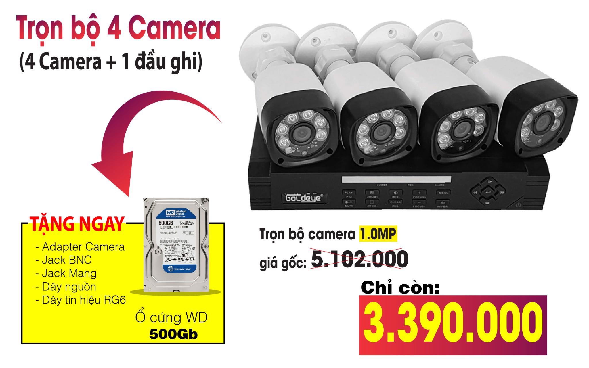Trọn bộ khuyến mãi camera Eview 1.0MP