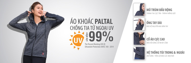Áo Khoác Chống Nắng Chống Tia Cực Tím Tử Ngoại UV đến 99% Có Chứng Nhận thương hiệu PALTAL