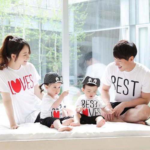 Áo thun gia đình - gắn kết yêu thương