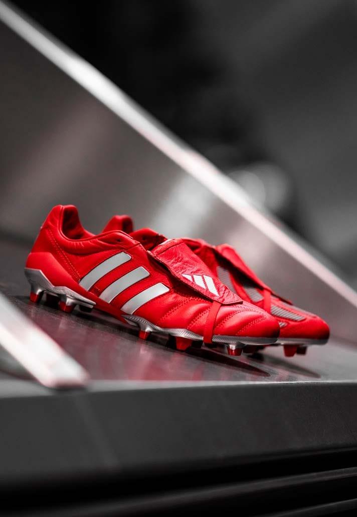 """Giày đá banh chính hãng. Giày đá banh Adidas. Adidas Predator Mania """"Red/Metallic Silver"""""""