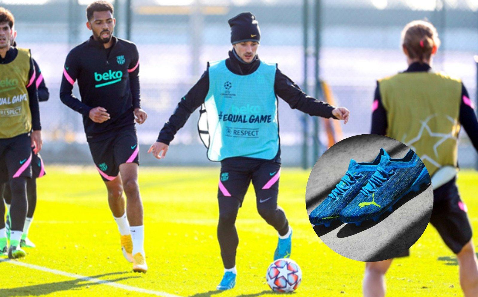 Antoine Griezmann mang giày đá bóng Puma Ultra 1.2