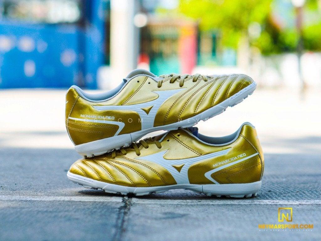 Giày đá bóng Mizuno Monarcida NEO II SELECT AS TF Gold/ White