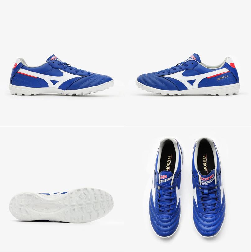 Form giày Mizuno Morelia TF Reach Beyond - Reflex White/Blue