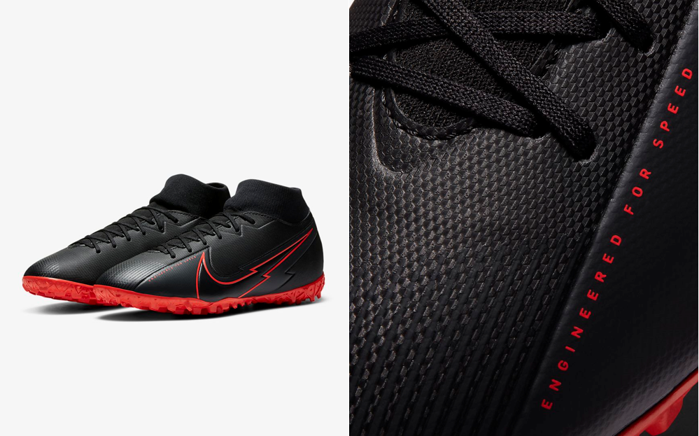 Nike Mercurial Superfly 7 Black X Chile Red