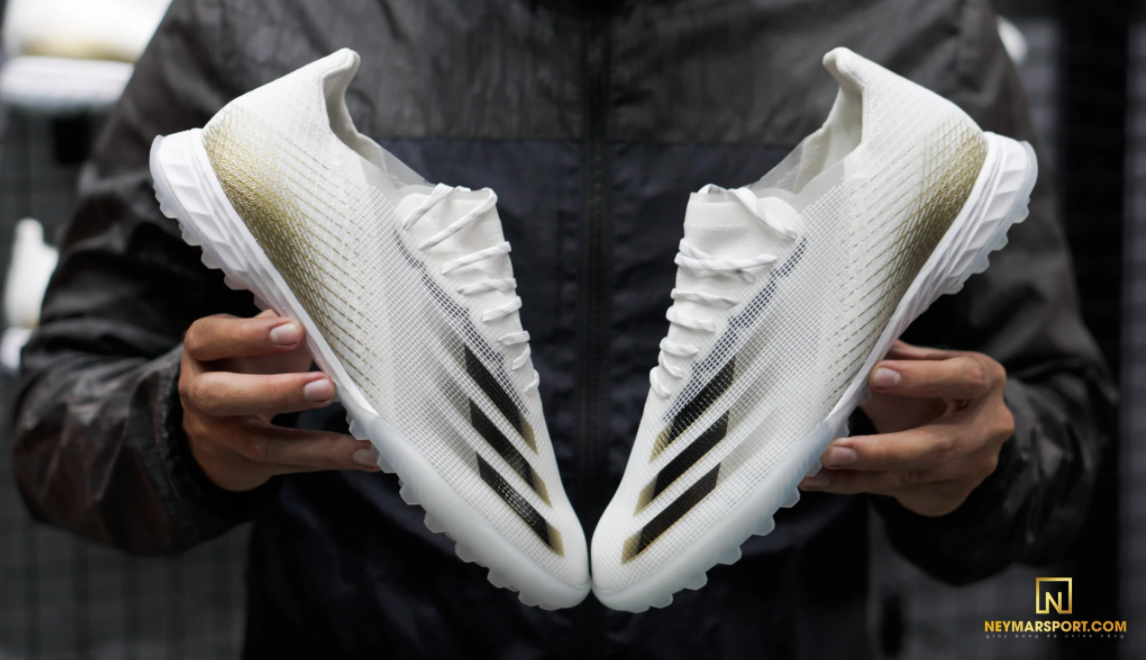 Giày cỏ nhân tạo adidas X Ghosted .1 TF Inflight - Footwear White/Core Black Metallic Gold