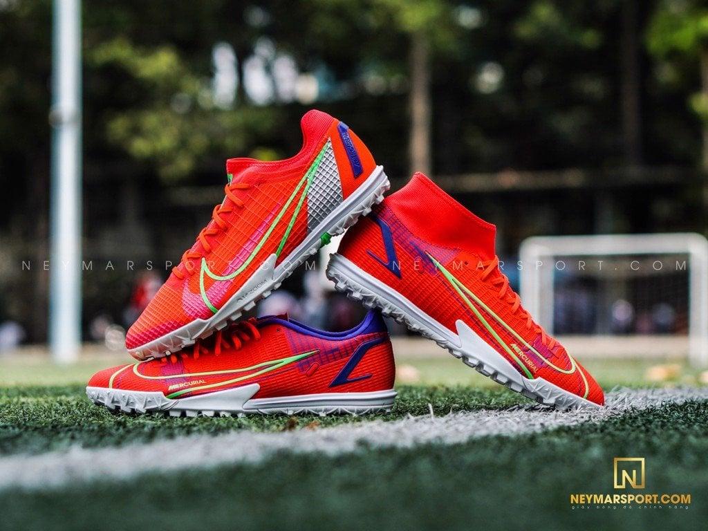 So sánh giày cỏ nhân tạo Nike Mercurial Vapor 14 phiên bản Pro và Academy TF
