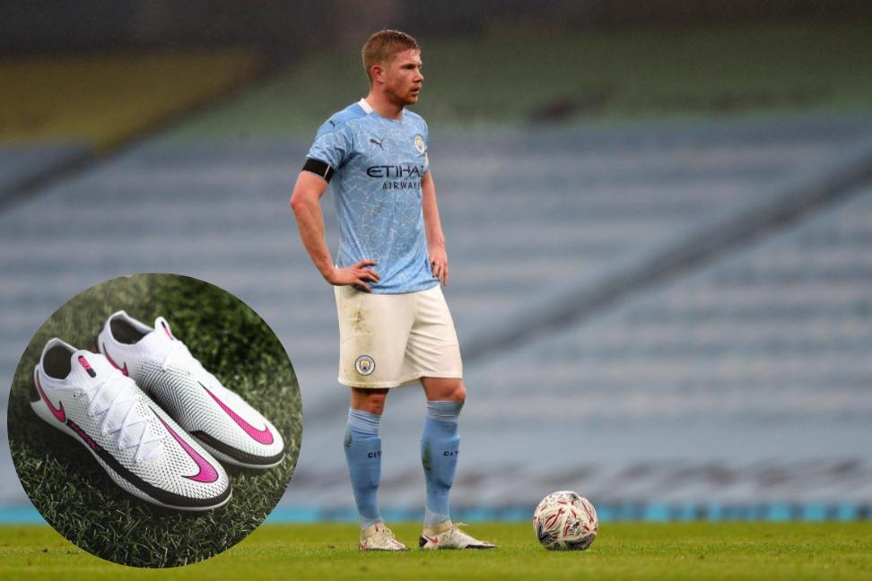 Kevin de Bruyne mang giày đá bóng Nike Phantom GT trong trận đấu với Birmingham