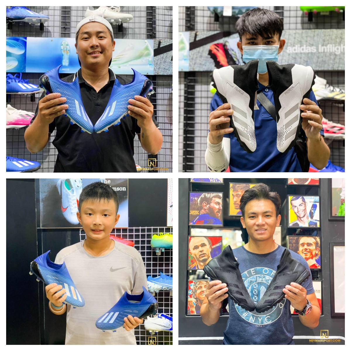 Một số hình ảnh khách hàng Neymarsport mua những dòng giày không dây