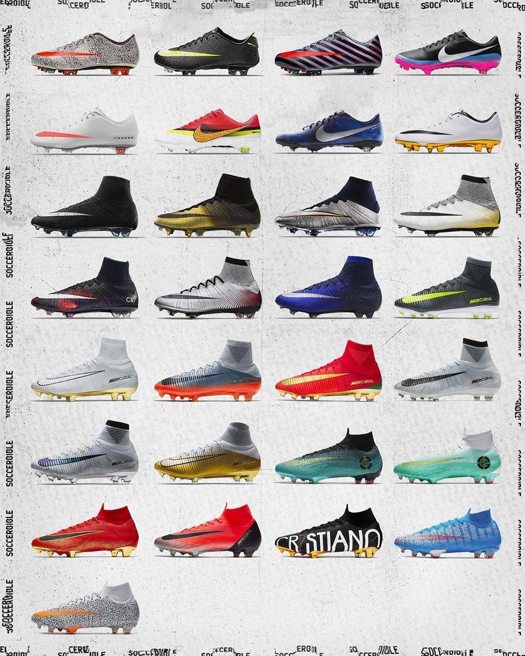 29 mẫu giày đặc biệt dành riêng cho CR7