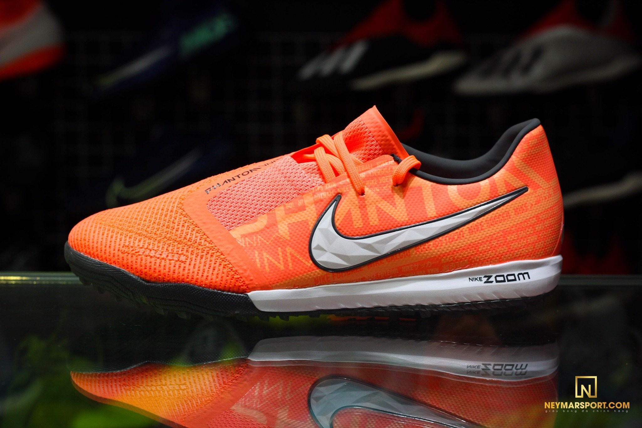 GIÀY ĐÁ BANH NIKE PHANTOM VENOM ZOOM PRO TF FIRE - BRIGHT MANGO/WHITE/ORANGE PULSE