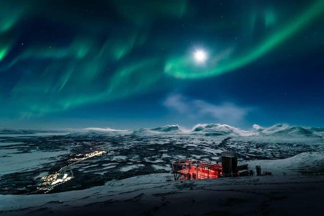 Cảm hứng từ hiện tượng cực quang tuyệt đẹp ở Bắc cực