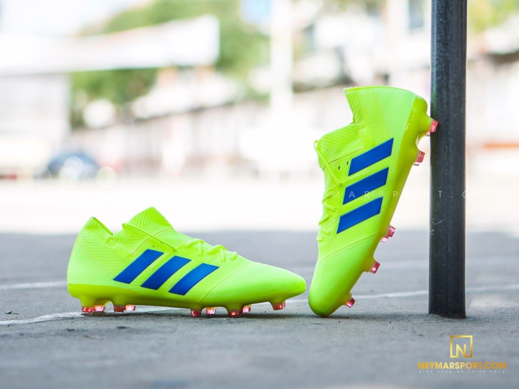 Adidas Nemeziz 18.1 FG/AG Exhibit - Solar Yellow/Blue