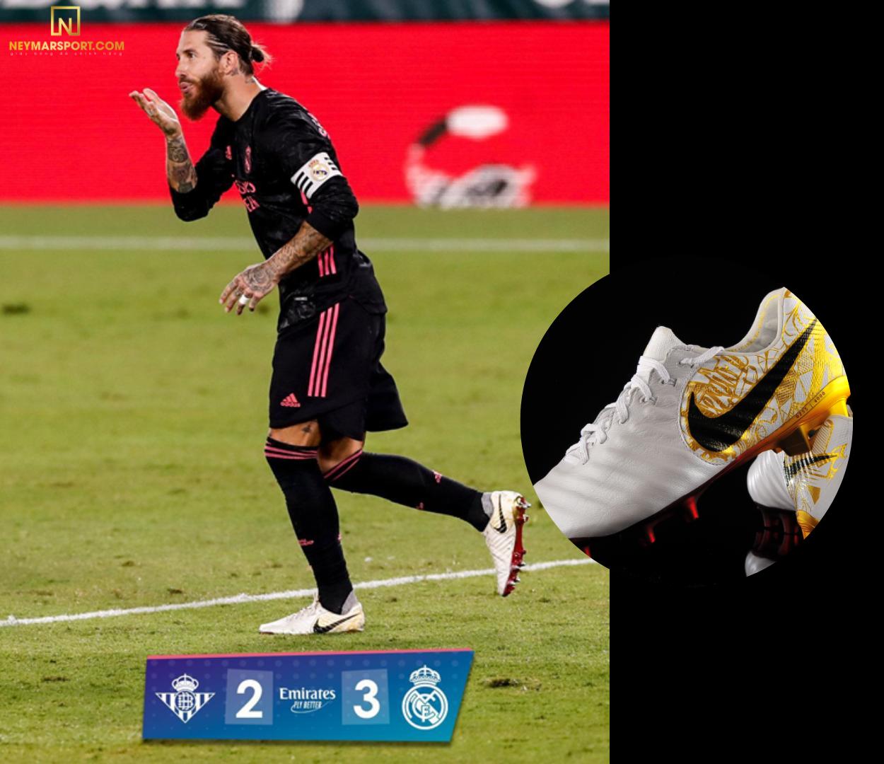 Ramos ăn mừng bàn thắng phút 82 với cú sút Penalty