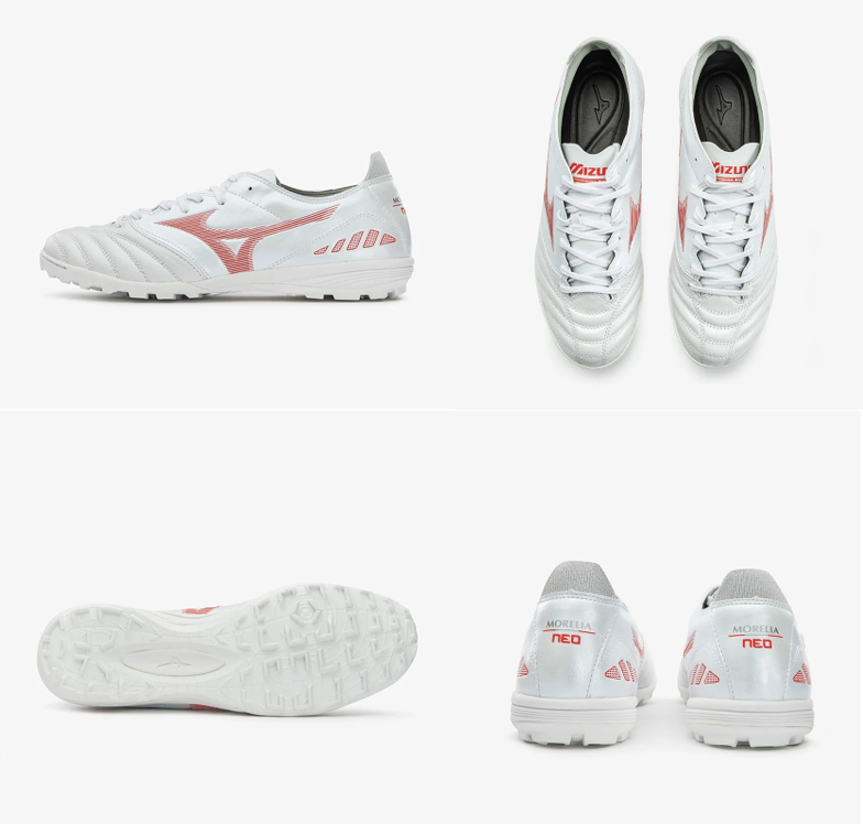 Giày đá bóng Mizuno Monarcida Neo Sala Select TF - White/Orange