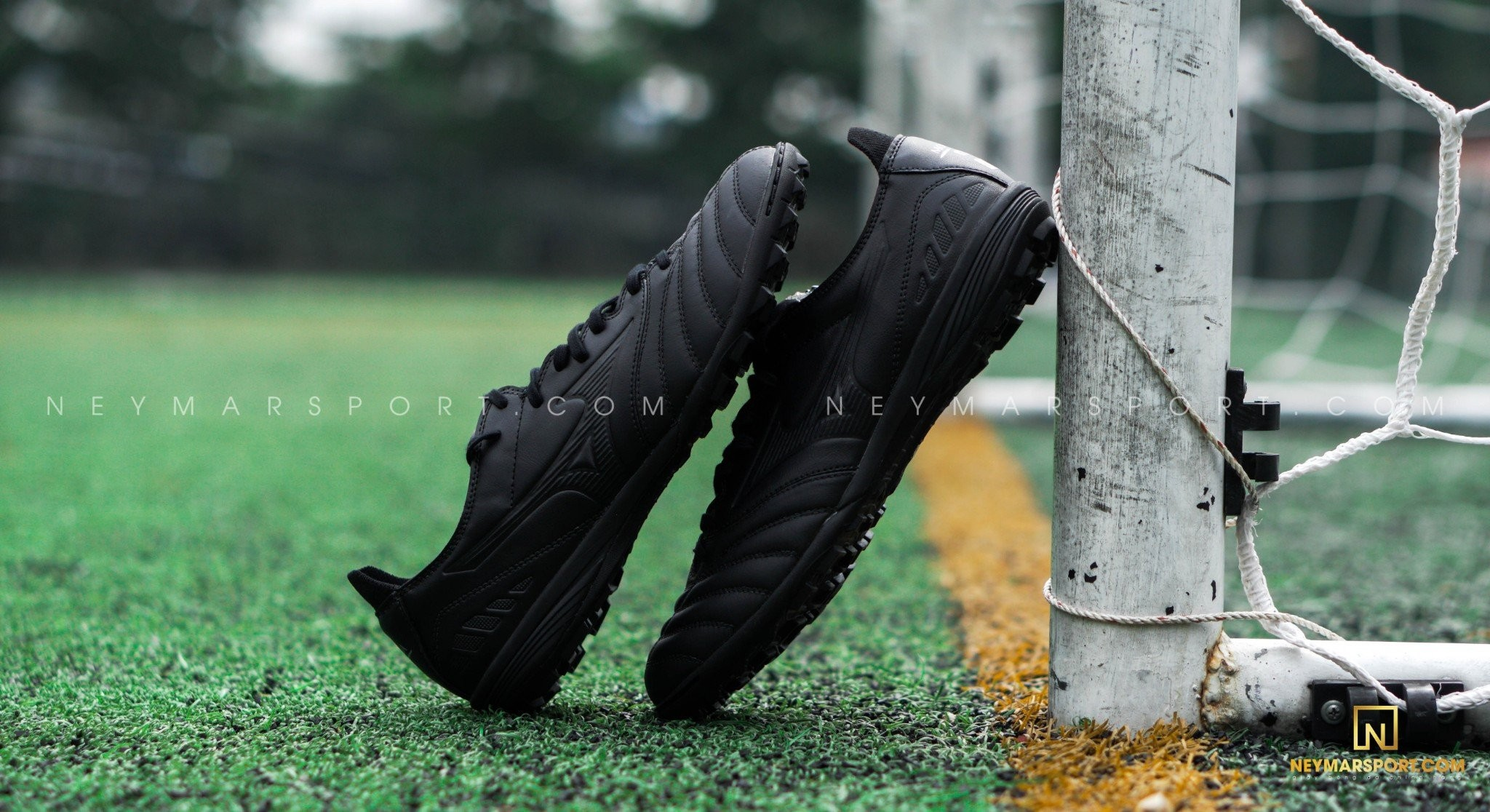 Giày đá bóng Mizuno Morelia Neo III Pro AS TF Reborn Revolution - Black/Black