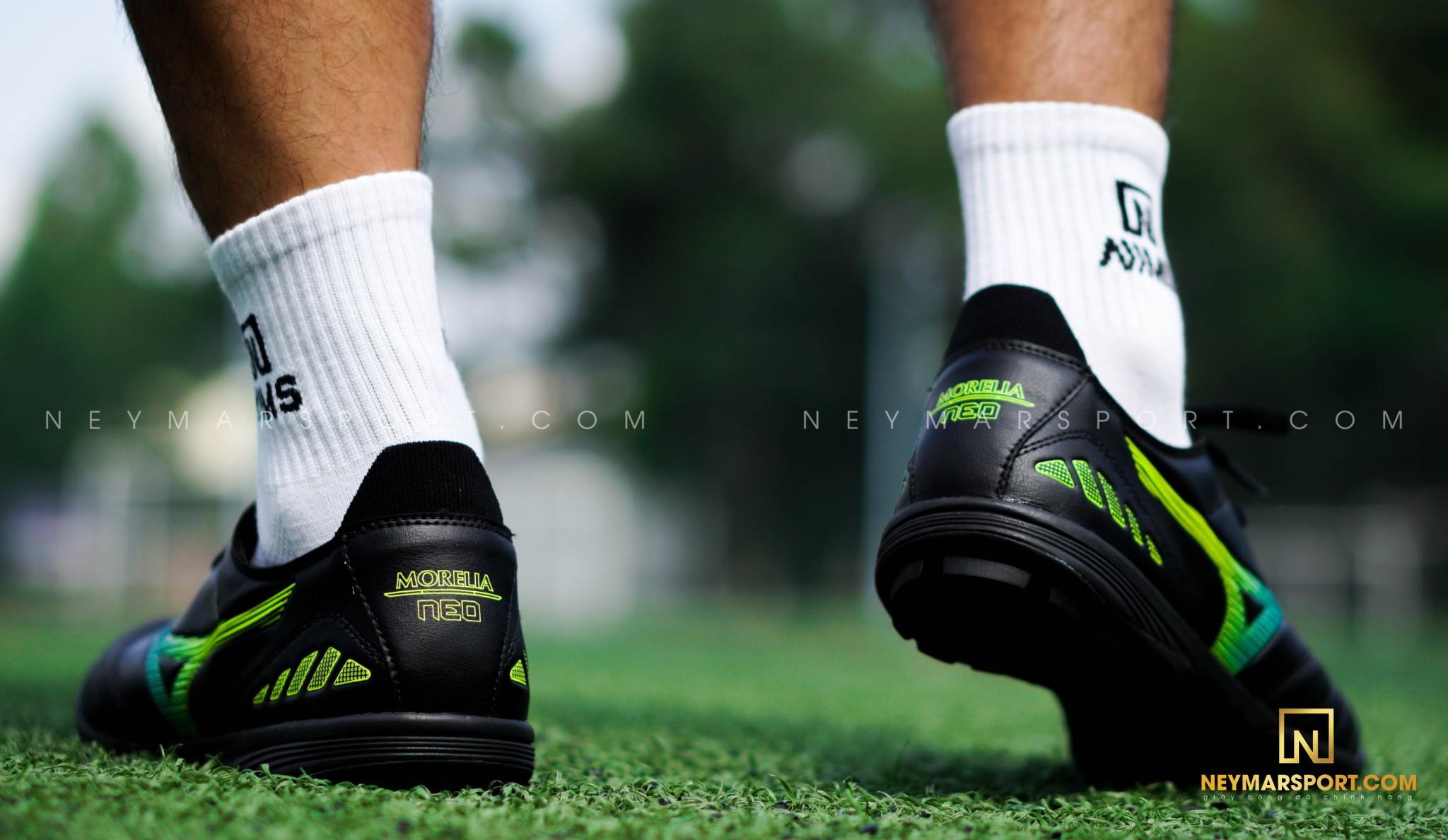 Giày đá bóng Mizuno Morelia Neo III Pro AS TF Black/Blue/Orange