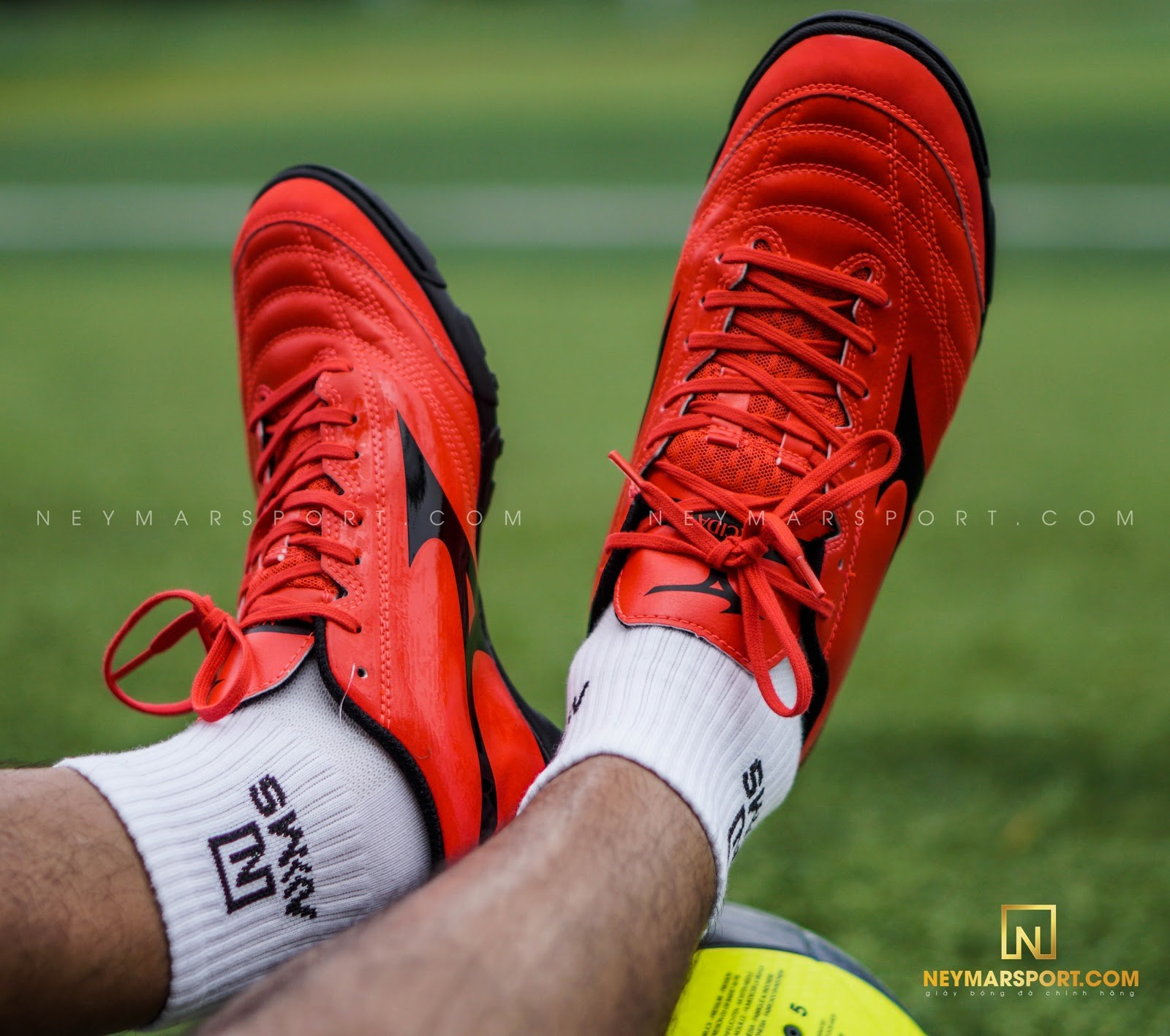 Giày đá bóng Mizuno Monarcida Neo Sala Select TF - Ignition Red/Black