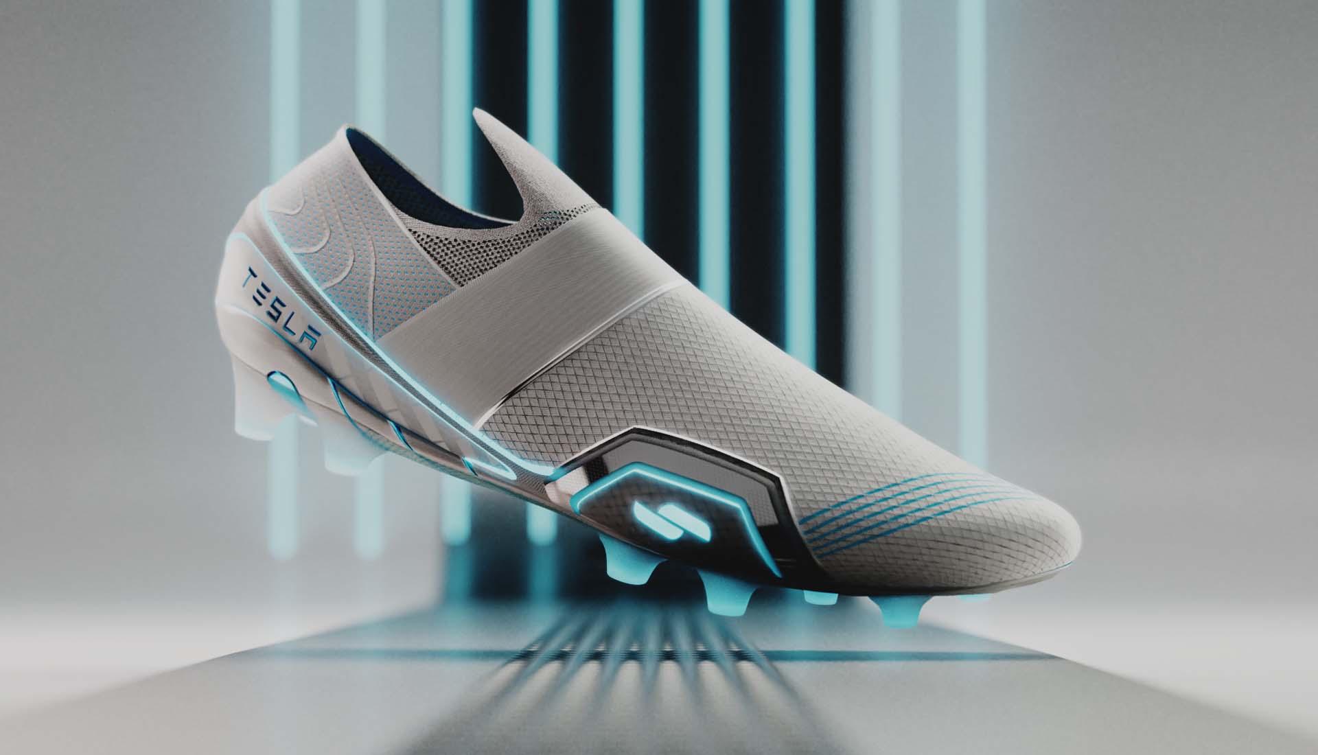 Mossawi Studios khởi động ý tưởng giày đá bóng Tesla