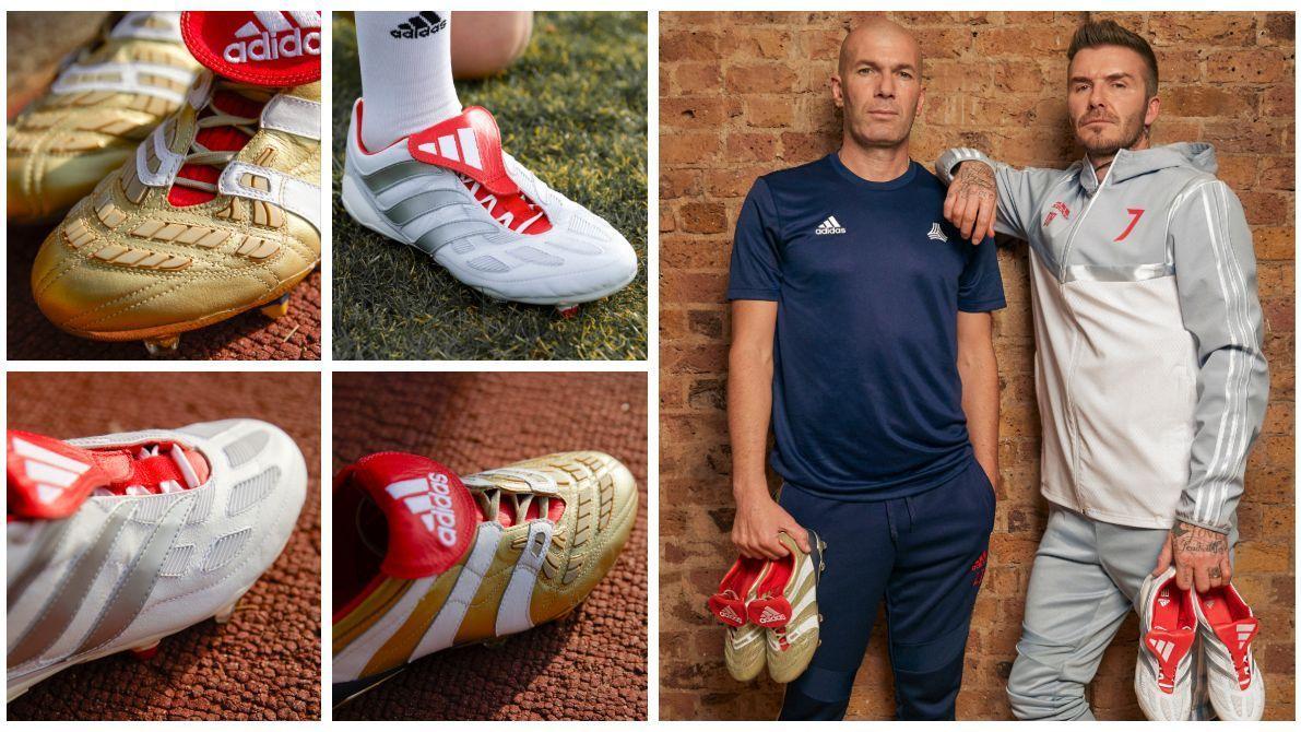 Predator với hai siêu sao David Beckham và Zinedine Zidane