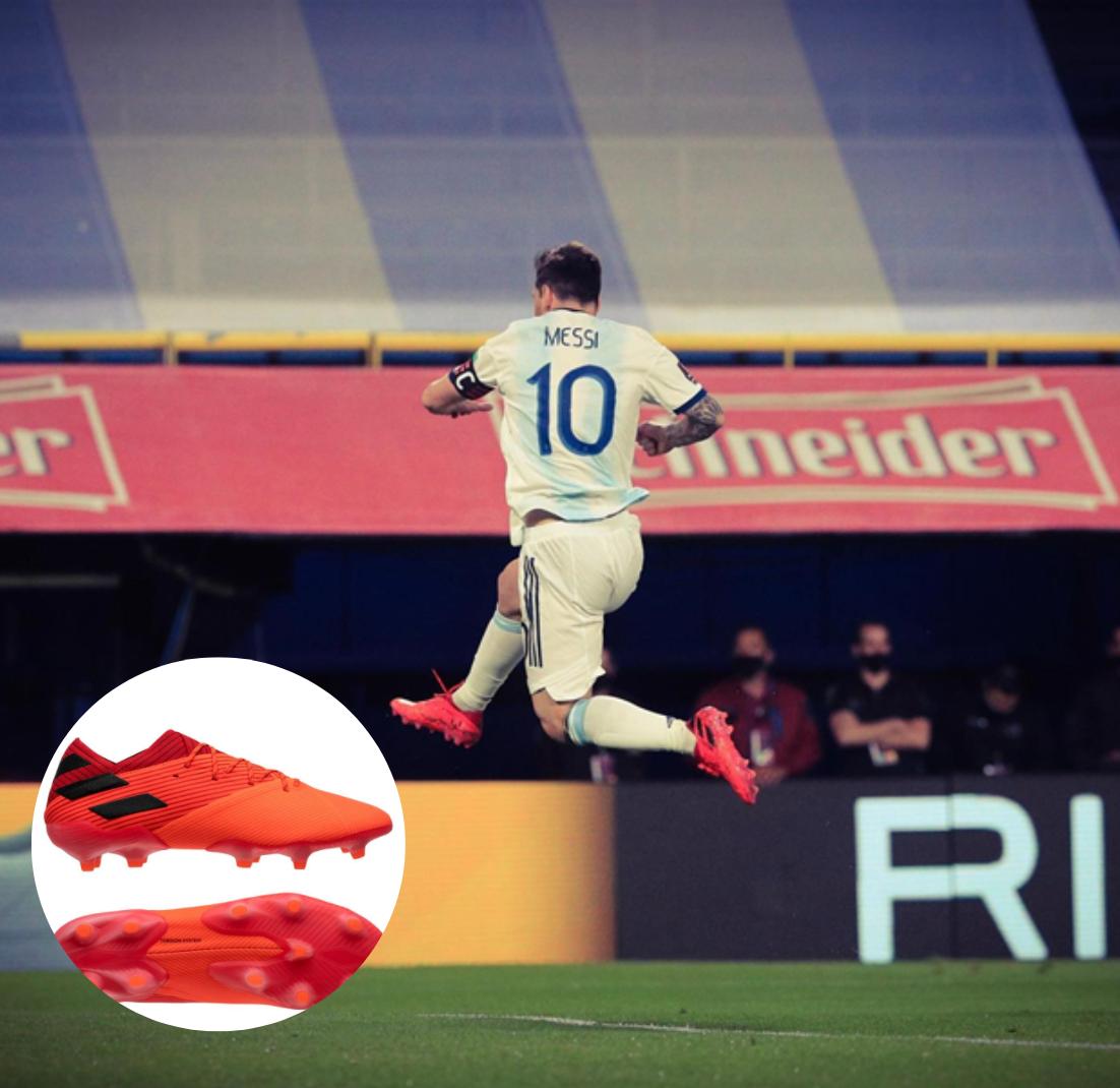 Lionel Messi mang giày đá banh adidas Nemeziz Inflight Pack 19.1