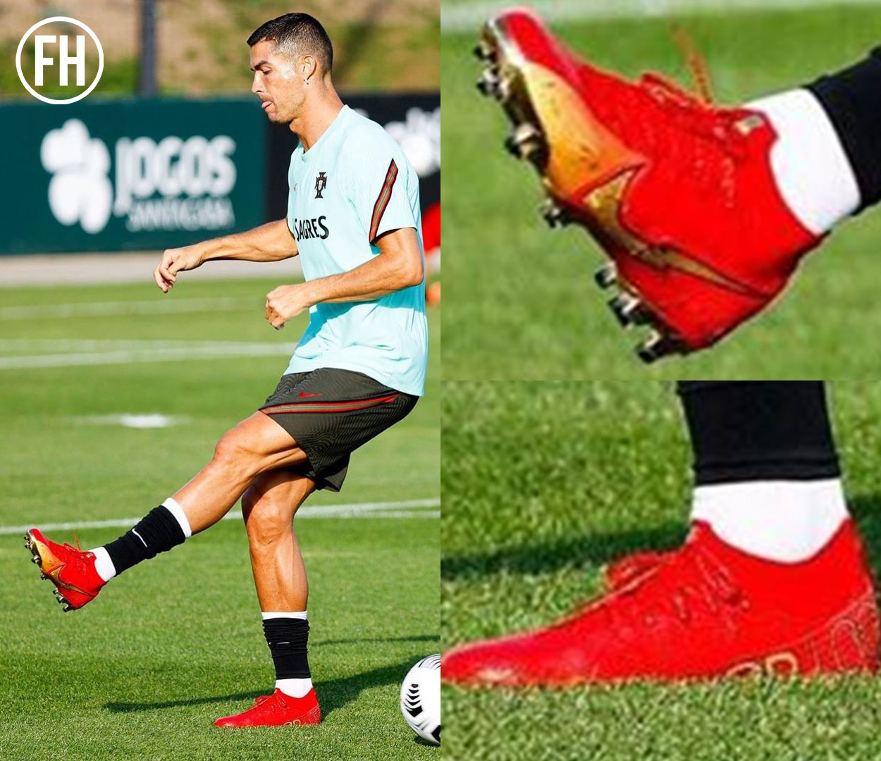 Cristiano Ronaldo tập trong giày Nike Mercurial Superfly 100 Bồ Đào Nha