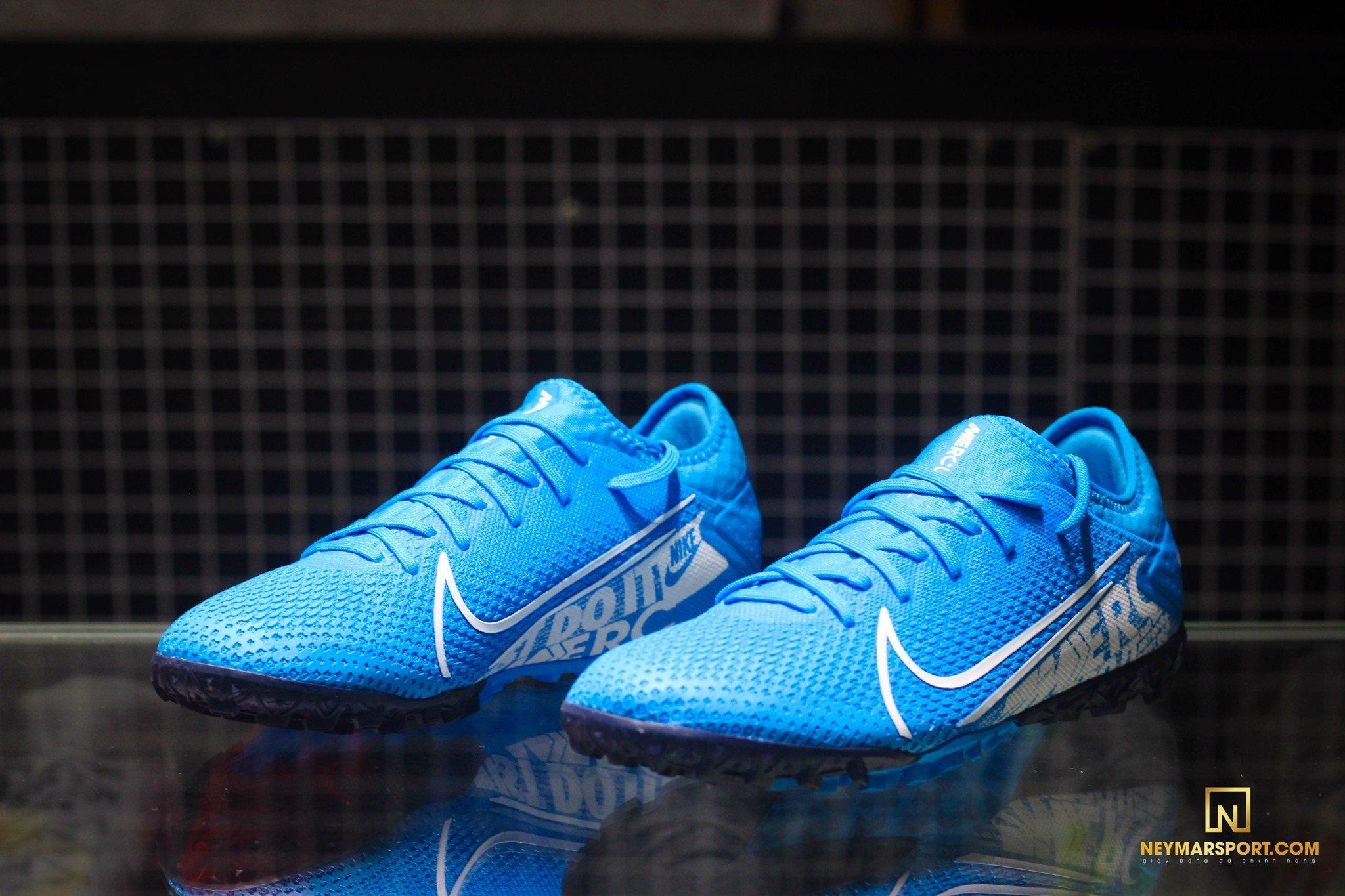 Giày đá banh chính hãng. Giày đá banh Nike. Giày đá banh Nike Mercurial Vapor 13 Pro IC New Lights - Blue Hero/White/Obsidian