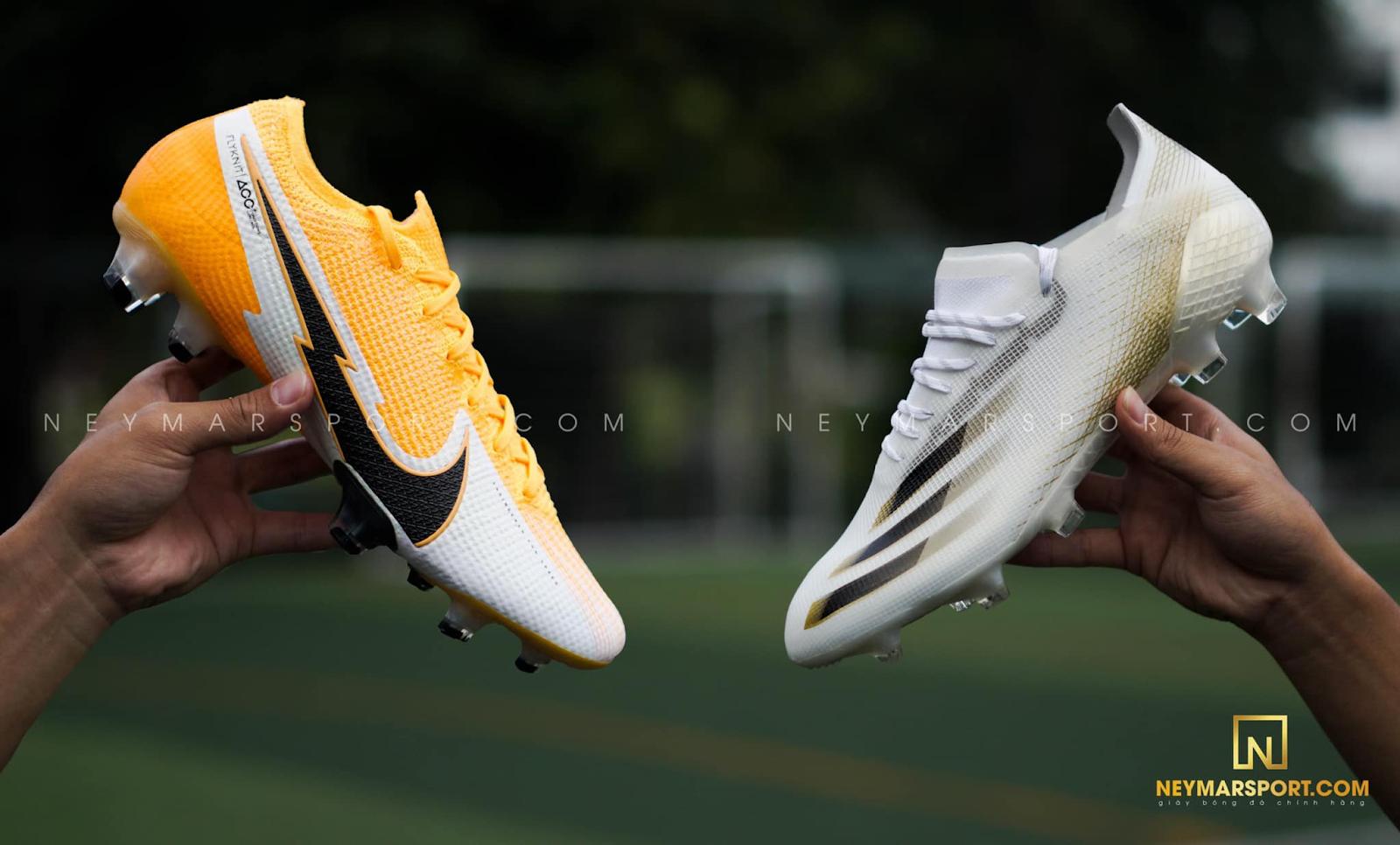 So Sánh Giày Đá Bóng Tốc Độ | Nike Mercurial Vapor 13 và Adidas X Ghosted.1