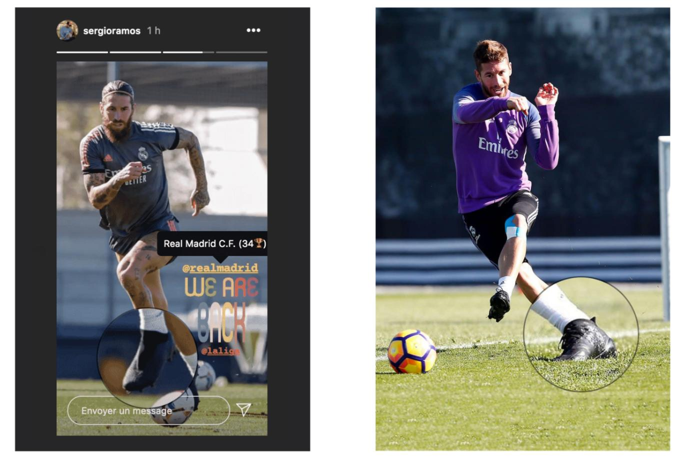 Sergio Ramos đã chính thức chuyển từ Nike Tiempo sang adidas Copa