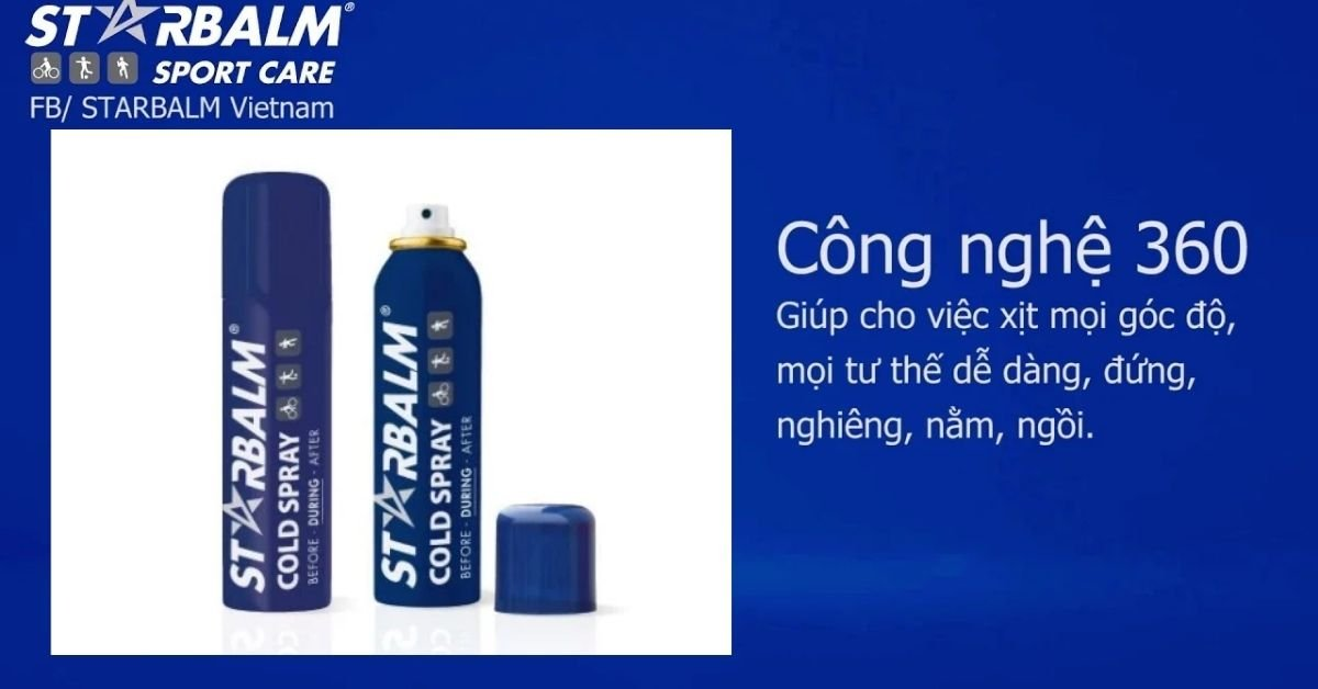 Chai xịt lạnh Starbalm Sport Care